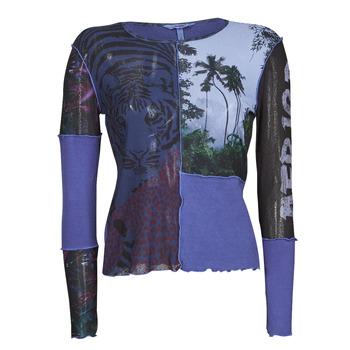衣服 女士 长袖T恤 Desigual PATCHAFRICA 蓝色