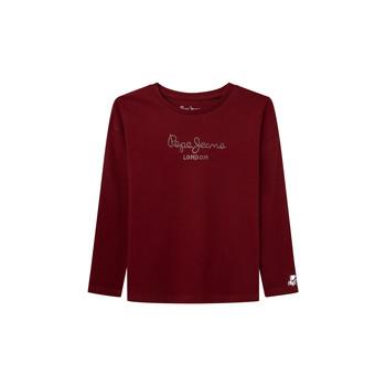 衣服 女孩 长袖T恤 Pepe jeans NURIA LS 红色