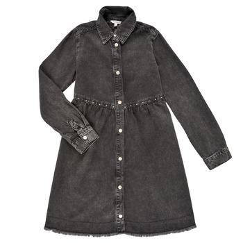 衣服 女孩 短裙 Pepe jeans FLORIDA DRESS 黑色