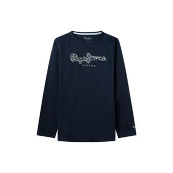 衣服 男孩 长袖T恤 Pepe jeans ALDO 海蓝色