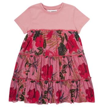 衣服 女孩 短裙 Desigual ZAFIRO 玫瑰色