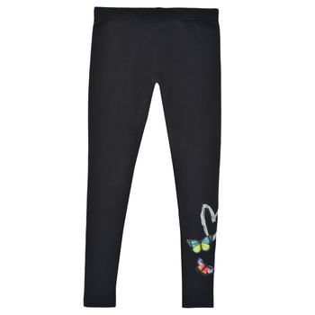 衣服 女孩 紧身裤 Desigual TEO 黑色