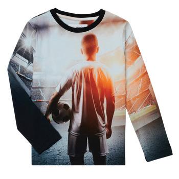 衣服 男孩 长袖T恤 Desigual FOOTBALL 灰色