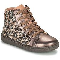 鞋子 女孩 高帮鞋 Bisgaard GAIA Leopard / 金色