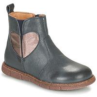 鞋子 女孩 短筒靴 Bisgaard MAGGIE 海蓝色 / 银灰色