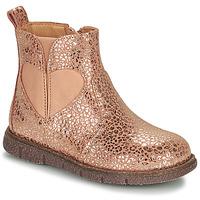鞋子 女孩 短筒靴 Bisgaard MELODY 玫瑰色 / 金色