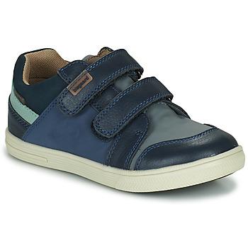 鞋子 男孩 球鞋基本款 Bisgaard LEVI TEX 海蓝色