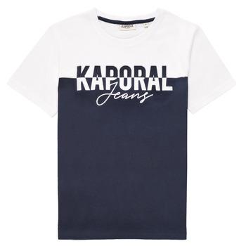 衣服 男孩 短袖体恤 Kaporal JILEY 白色