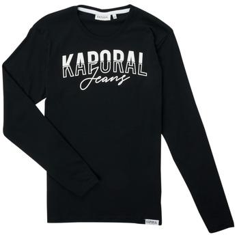 衣服 男孩 长袖T恤 Kaporal JODLE 黑色