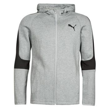 衣服 男士 卫衣 Puma 彪马 EVOSTRIPE CORE FZ HOODIE 灰色 / 黑色