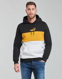 衣服 男士 卫衣 Puma 彪马 ESS+ COLORBLOCK HOODIE FL 黑色 / 黄色