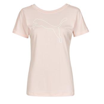 衣服 女士 短袖体恤 Puma 彪马 TRAIN FAVORITE JERSEY CAT TEE 玫瑰色