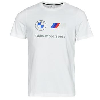 衣服 男士 短袖体恤 Puma 彪马 BMW MMS ESS LOGO TEE 白色