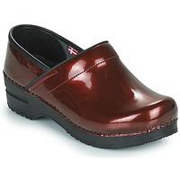鞋子 女士 洞洞鞋/圆头拖鞋 Sanita PROF 波尔多红