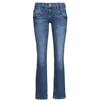 衣服 女士 直筒牛仔裤 Freeman T.Porter ALEXA STRAIGHT SDM 蓝色 / Fonce