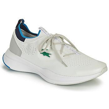 鞋子 男士 球鞋基本款 Lacoste RUN SPIN KNIT 0121 1 SMA 白色 / 蓝色