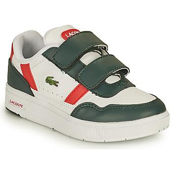 鞋子 儿童 球鞋基本款 Lacoste T-CLIP 0121 2 SUI 白色 / 绿色 / 红色