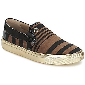 鞋子 女士 平底鞋 Sonia Rykiel 索尼亚·里基尔 STRIPES VELVET 黑色 / 棕色
