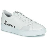鞋子 男士 球鞋基本款 John Galliano MISSISSIPPI 白色