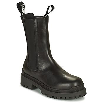 鞋子 女士 短筒靴 KARL LAGERFELD BIKER II LONG GORE BOOT 黑色