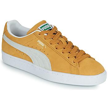 鞋子 球鞋基本款 Puma 彪马 SUEDE 黄色 / 白色