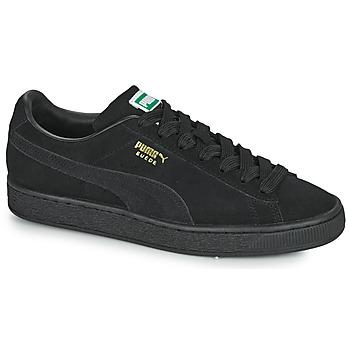 鞋子 球鞋基本款 Puma 彪马 SUEDE 黑色