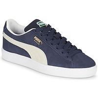 鞋子 儿童 球鞋基本款 Puma 彪马 SUEDE JR 蓝色 / 白色