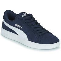 鞋子 儿童 球鞋基本款 Puma 彪马 SMASH JR 蓝色