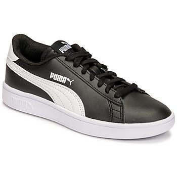 鞋子 儿童 球鞋基本款 Puma 彪马 SMASH JR 黑色
