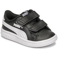 鞋子 儿童 球鞋基本款 Puma 彪马 SMASH INF 黑色 / 白色