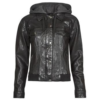 衣服 女士 皮夹克/ 人造皮革夹克 Oakwood RUBY 6 黑色