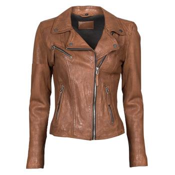 衣服 女士 皮夹克/ 人造皮革夹克 Oakwood CLIPS 6 棕色