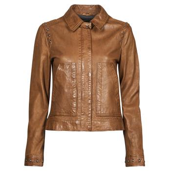 衣服 女士 皮夹克/ 人造皮革夹克 Oakwood STAMP6 棕色