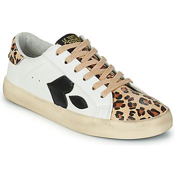 鞋子 女士 球鞋基本款 Le Temps des Cerises AUSTIN 白色 / Leopard
