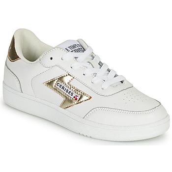 鞋子 女士 球鞋基本款 Le Temps des Cerises FLASH 白色 / 金色