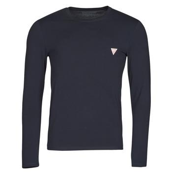 衣服 男士 长袖T恤 Guess CN LS CORE TEE 海蓝色