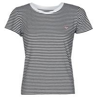 衣服 女士 短袖体恤 Guess ES SS GUESS LOGO BABY TEE 黑色 / 白色