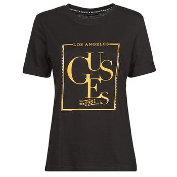 衣服 女士 短袖体恤 Guess SS CN SIMONNE TEE 黑色