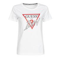衣服 女士 短袖体恤 Guess SS CN ICON TEE 白色