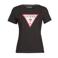 衣服 女士 短袖体恤 Guess SS CN ORIGINAL TEE 黑色