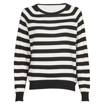 衣服 女士 羊毛衫 Guess IRENE RN LS SWTR 黑色 / 白色