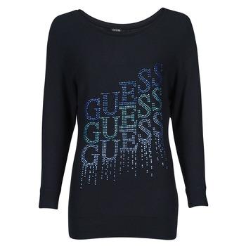 衣服 女士 羊毛衫 Guess CLAUDINE BAT SLEEVE SWTR 黑色