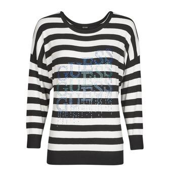衣服 女士 羊毛衫 Guess CLAUDINE BAT SLEEVE SWTR 黑色 / 白色