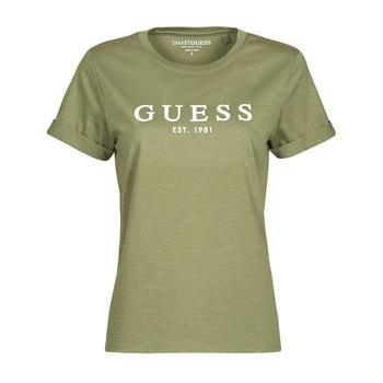 衣服 女士 短袖体恤 Guess ES SS GUESS 1981 ROLL CUFF TEE 卡其色