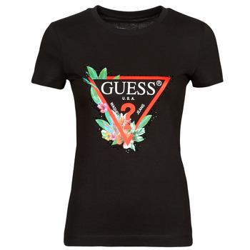 衣服 女士 短袖体恤 Guess SS CN NORA TEE 黑色