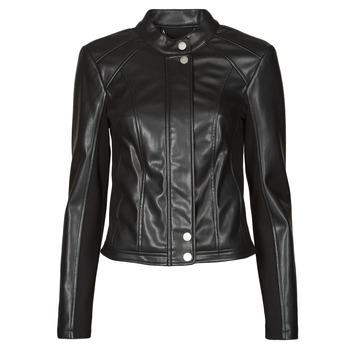衣服 女士 皮夹克/ 人造皮革夹克 Guess FIAMMETTA JACKET 黑色