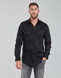 衣服 男士 长袖衬衫 Guess LS SUNSET SHIRT 黑色