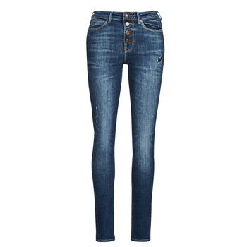 衣服 女士 牛仔铅笔裤 Guess 1982 EXPOSED BUTTON 蓝色 / Fonce