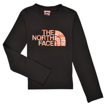 衣服 男孩 长袖T恤 The North Face 北面 EASY TEE LS 黑色