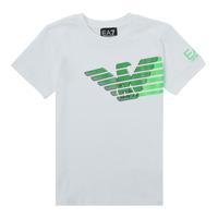 衣服 男孩 短袖体恤 EA7 EMPORIO ARMANI THAMIA 白色 / 绿色